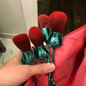Storybook Cosmetics Red Rose Face Brushes